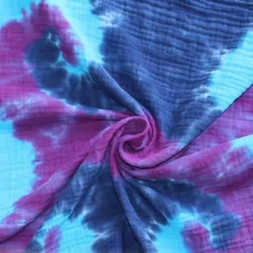 Muslin - blues & purple seahorse
