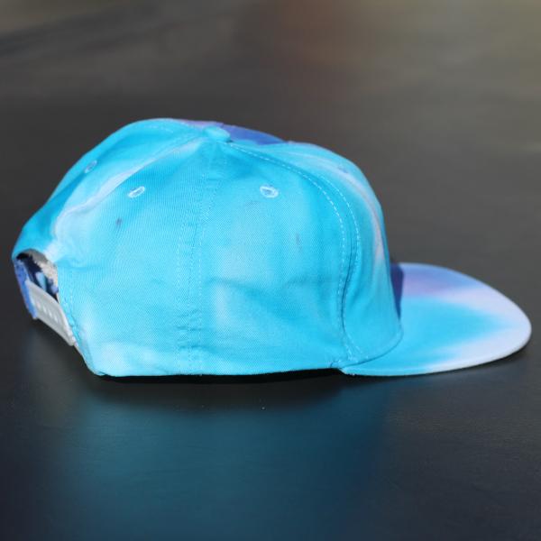 snapback cap - blues and purple