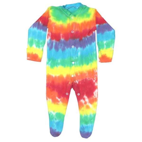 pale rainbow - babygrow