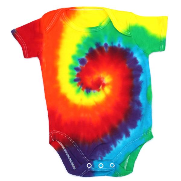 rainbow swirl baby vest