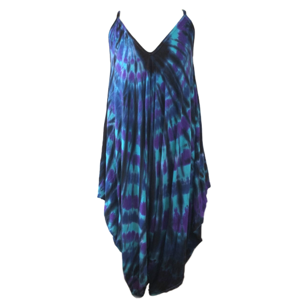harem jumpsuit black peacock