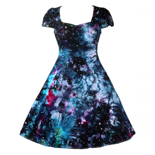 fifties style dress - nebula