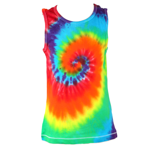 children's vest rainbow swirl