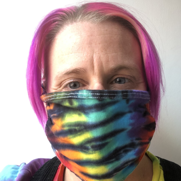 face mask black rainbow
