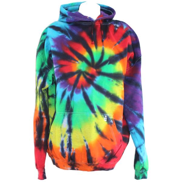 black rainbow pullover hoody