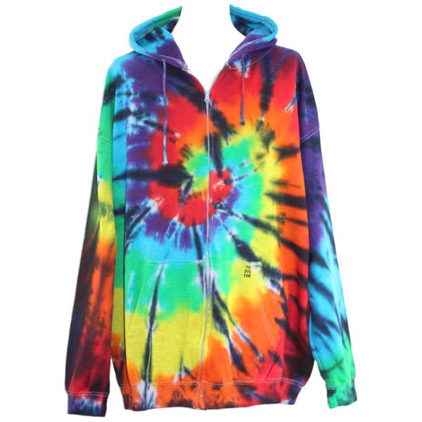 black rainbow zip hoody
