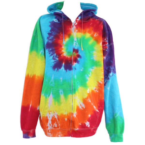 rainbow swirl zip hoody