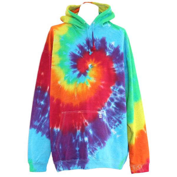 rainbow swirl pullover hoody