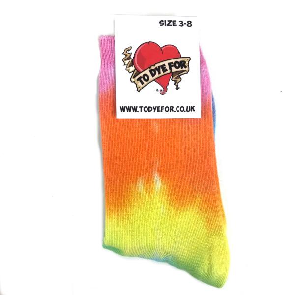 pale rainbow socks